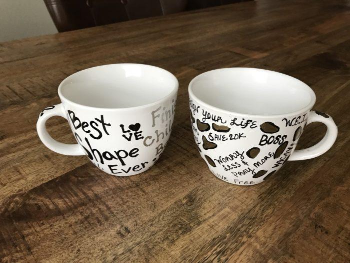 DIY Goal Coffee Mugs