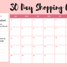 One Month Shopping Cleanse