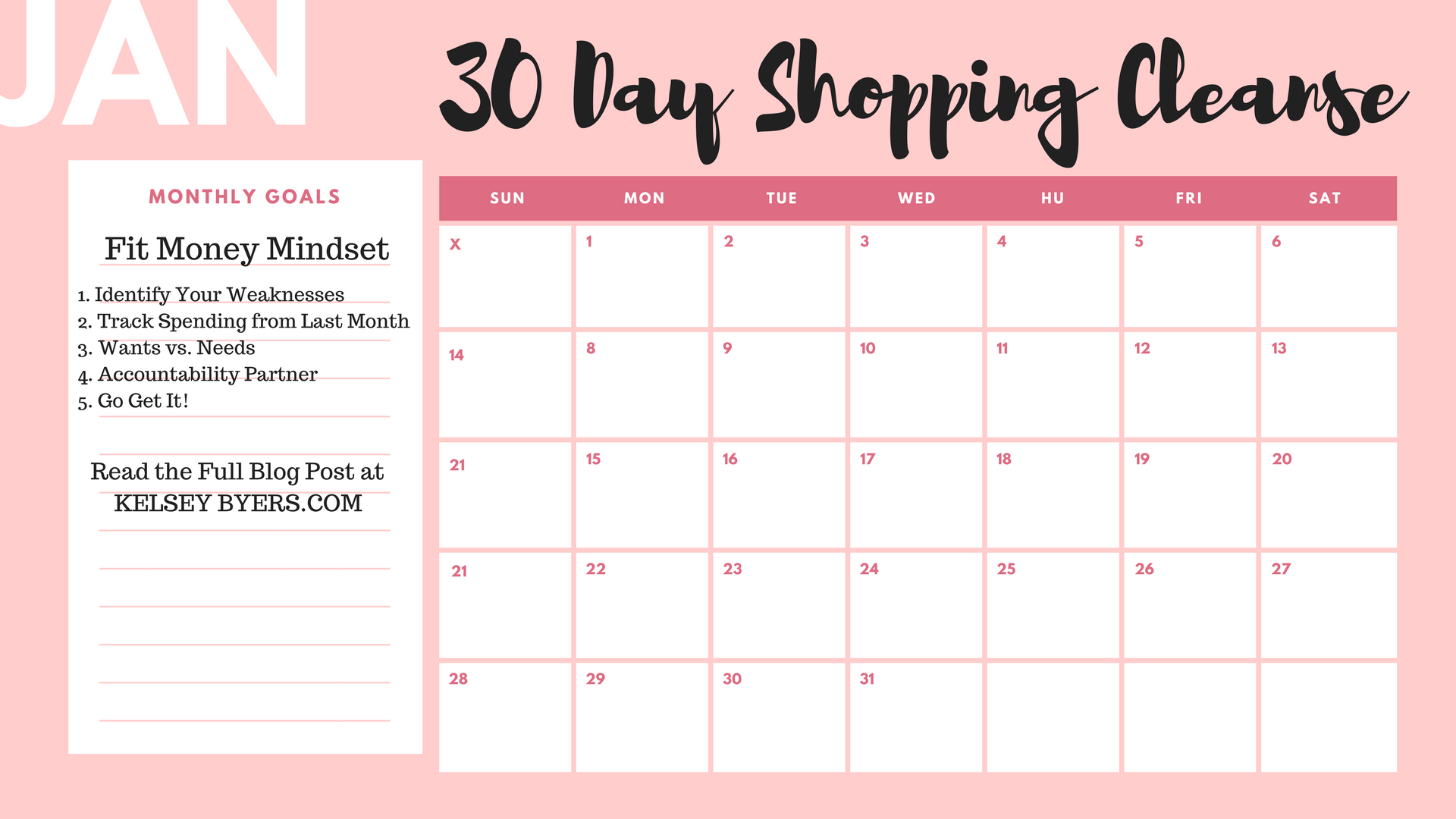 Calendar Girl May Free Read : One month shopping cleanse kelsey byers