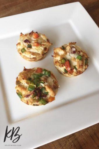 chicken fiesta protein muffins