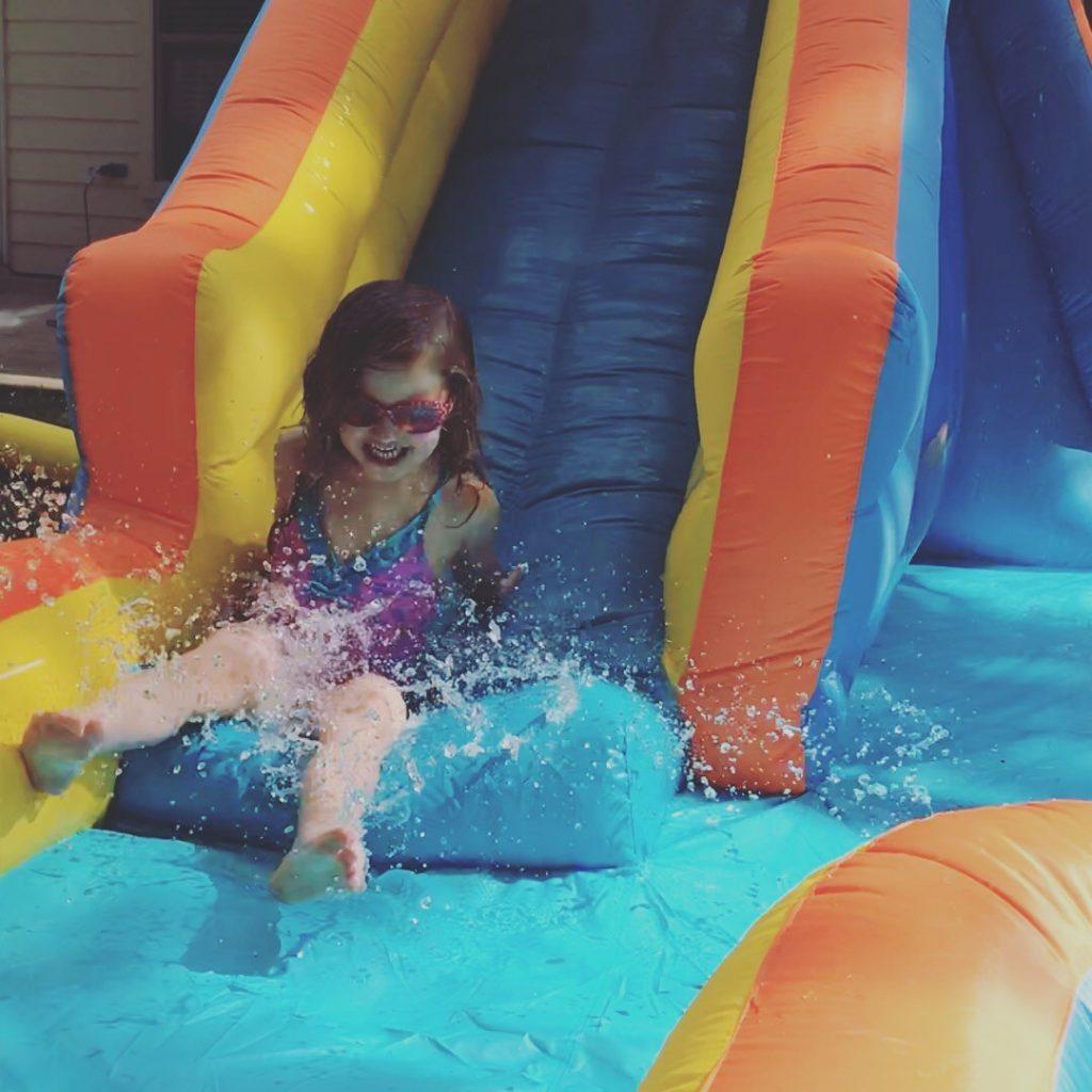 Banzai water slide for kids