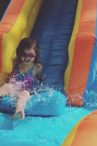 Banzai water slide for kids