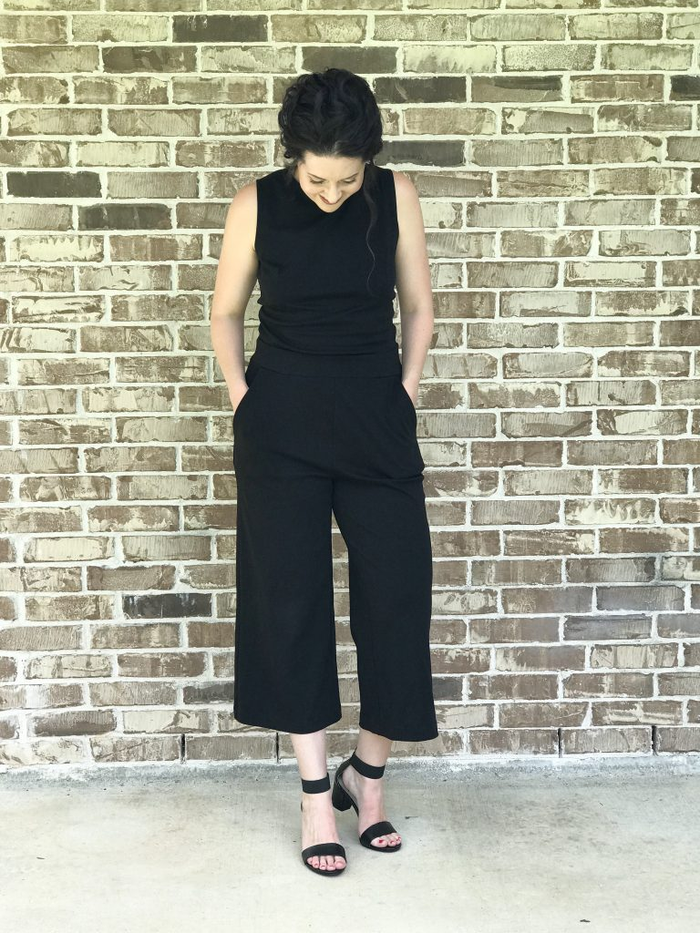 Cute black jump suit