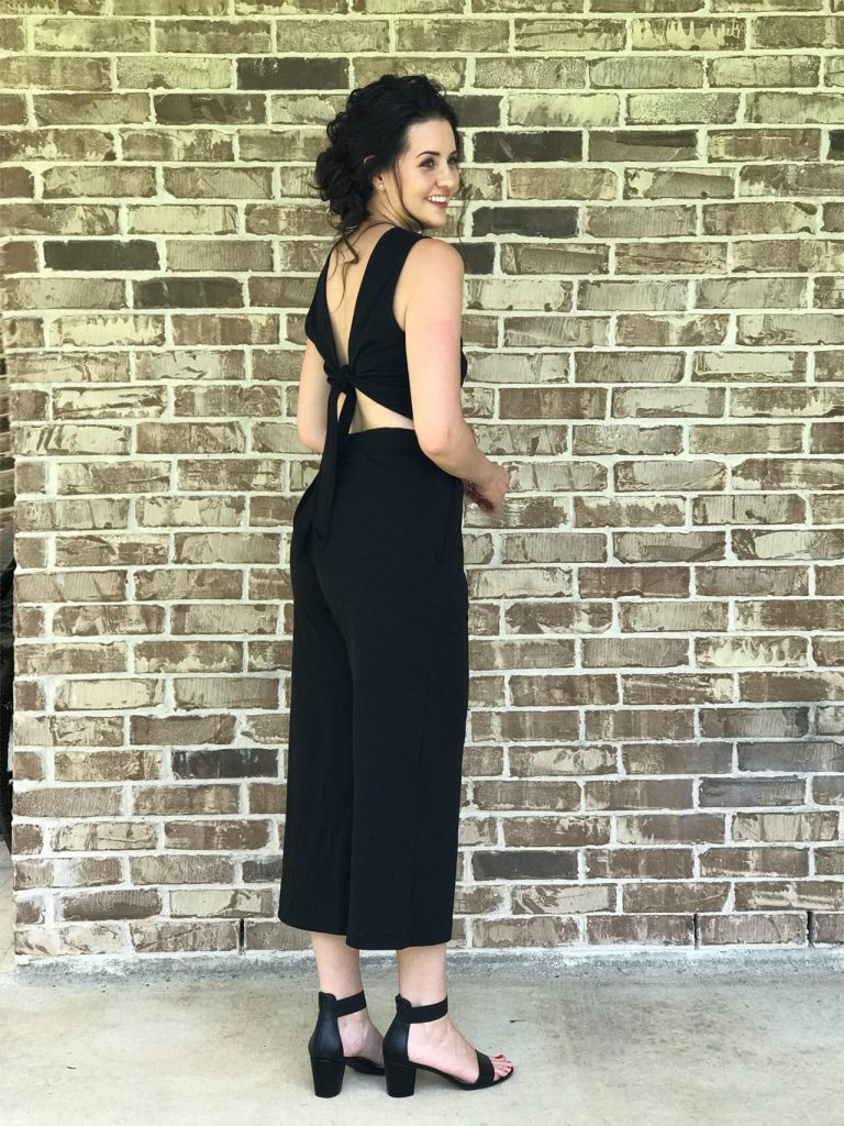 black jump suit, jumpsuit