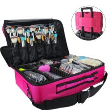 beautiful pink makeup bag and carrying case, stay organized