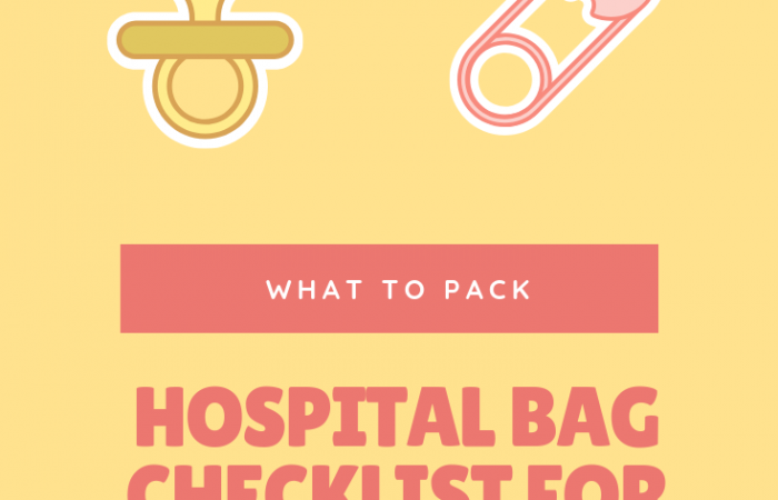 pack hospital bag for mom to be
